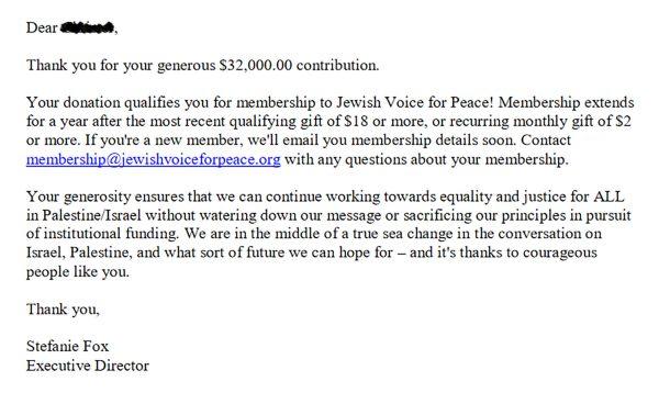 Donation JVP