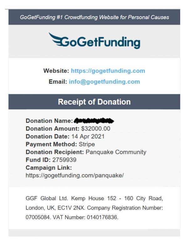 GoGetFunding donasjon til PanQuake – $32000 pdf copy